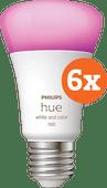Philips Hue White & Color E27 10.5W 6-pack Philips Hue E27 White & Color