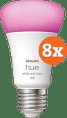 Philips Hue White & Color E27 10.5W 8-pack Philips Hue E27 White & Color