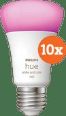 Philips Hue White & Color E27 10.5W 10-pack Philips Hue E27 White & Color