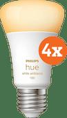 Philips Hue White Ambiance E27 10.5W 4-pack