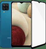 Samsung Galaxy A12 128GB Blauw + PanzerGlass Case Friendly Screenprotector Glas Zwart Samsung Galaxy A serie