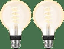 Philips Hue Filamentlamp White Ambiance Globe E27 2-pack