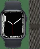 Apple Watch Series 7 4G 41mm Nachtblauw Nachtblauw Bandje + Polsband Milanees Grafiet Apple Watch Series 7