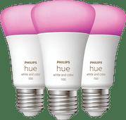 Philips Hue White & Color E27 10.5W 3-pack Philips Hue E27 White & Color