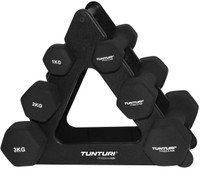 Tunturi Neoprene Dumbbell set 1 + 2 + 3 kg
