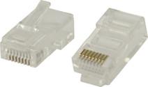 Valueline UTP CAT5 Network Plug Transparent 5 units