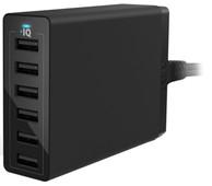 Anker PowerPort 6 Oplader zonder Kabel met 6 Usb Poorten 12W Zwart