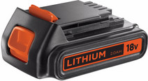 BLACK + DECKER Battery 18V 2.0 Ah Li-Ion