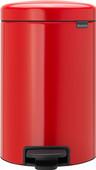 Brabantia NewIcon Poubelle à pédale 12 Litres Rouge